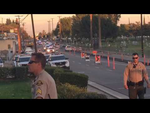 Law Enforcement Procession escorts Fresno County sergeant to funeral home