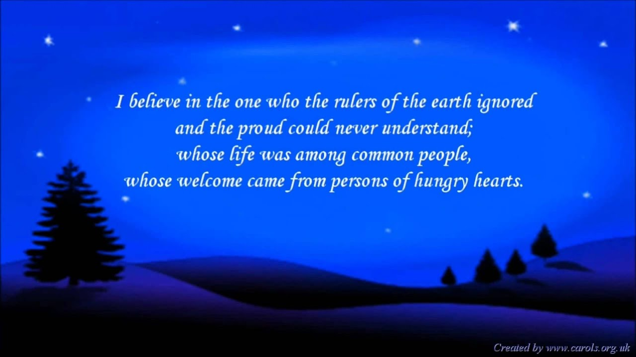 A Christmas Creed - Prayer for Christmas - YouTube