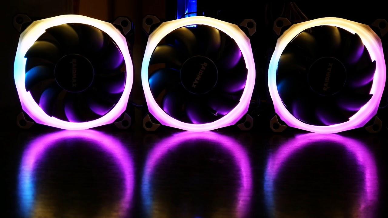 Cheap Addressable RGB 120mm fan set : Raidmax NV-R120FBR3