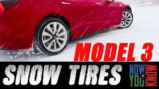 How Does the Tesla Model 3 RWD Handle in the Snow with SNOW TIRES