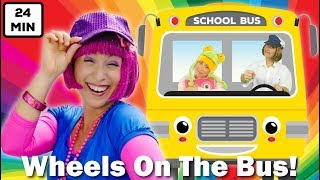 Wheels On The Bus | Plus Lots More Nursery Rhymes & Kids Songs | 24min Compilation from Debbie Doo