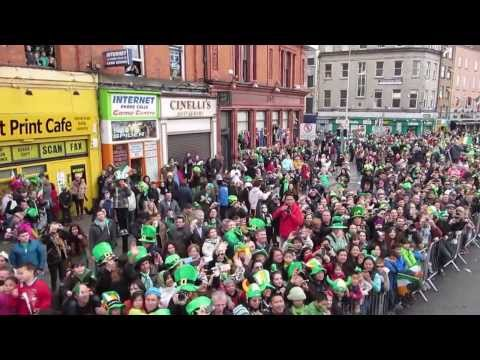 Live from the Dublin St. Patrick's Day Parade Media Bus 2014!