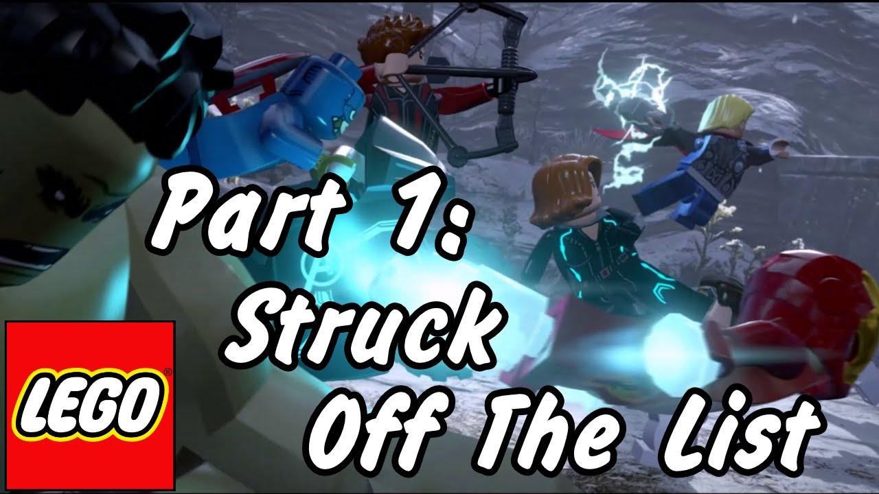 Lego Marvel S Avengers Struck Off The List Walkthrough Part1 Youtube