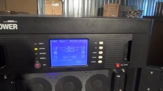 N-Power. Запуск параллельной системы ИБП 2x40 кВА. Power-Vision HF
