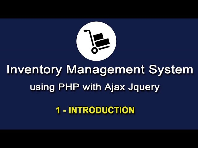 Inventory Management System in PHP using Ajax Jquery
