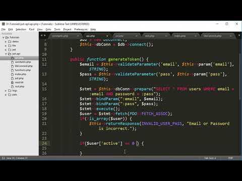 REST API Development Part 7: Generate JWT Token