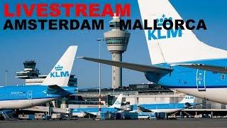 [FSX] SHORT FLIGHT AMSTERDAM (EHAM) TO MALLORCA (LEPA) | KLM  B737-800 | JOINFS LIVESTREAM