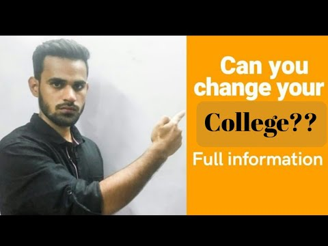 Can You Change Your College???