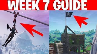 Fortnite ALL Season 8 Week 7 Leaked Challenges! Deal Damage riding a Zipline, Visit Pirate Camps