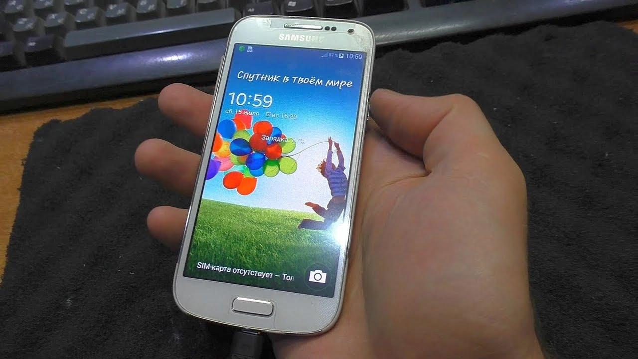 9ee5b49014f Экран не реагирует на касания. Смартфон Samsung Galaxy S4 mini - YouTube