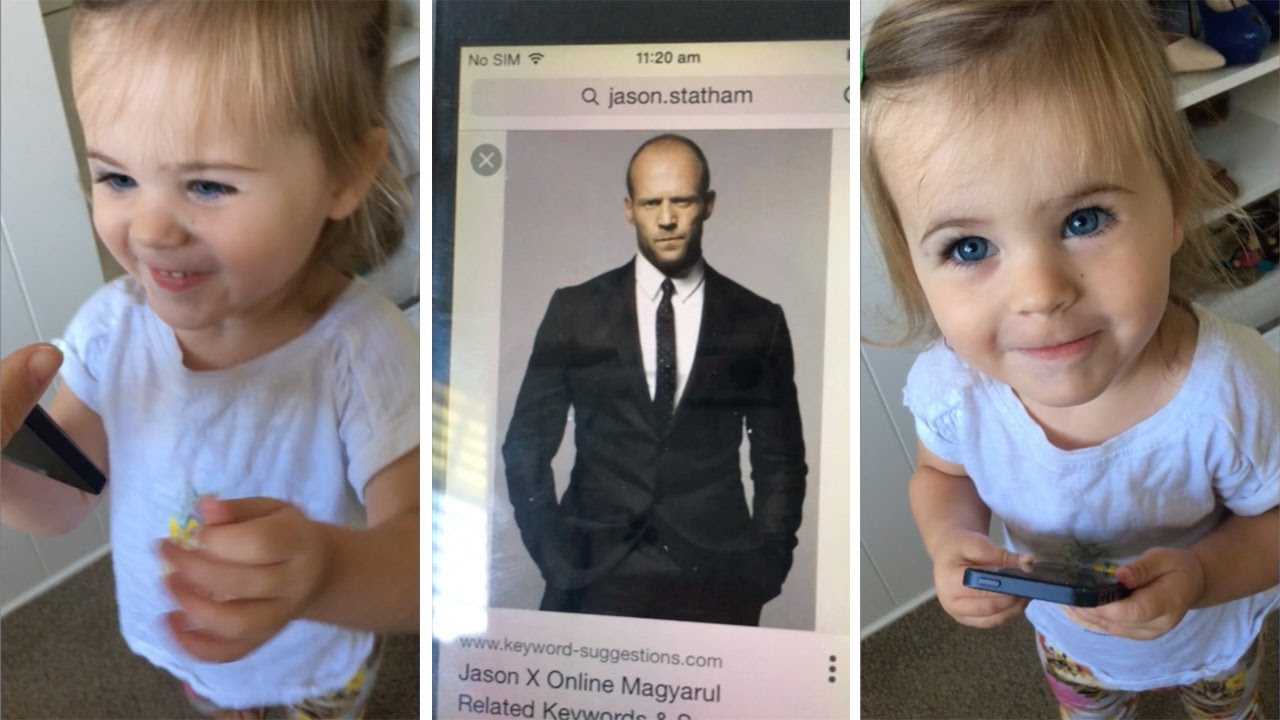 Toddler Confuses Dad For Jason Statham - YouTube