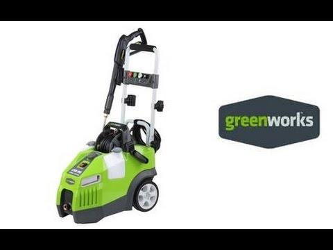 GreenWorks 51012 1700 PSI Electric Pressure Washer - YouTube