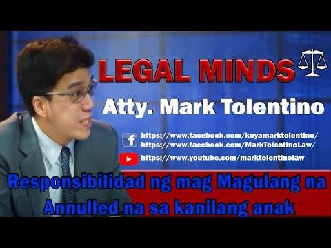 responsibilidad ng mag magulang na annulled na sa kanilang anak
