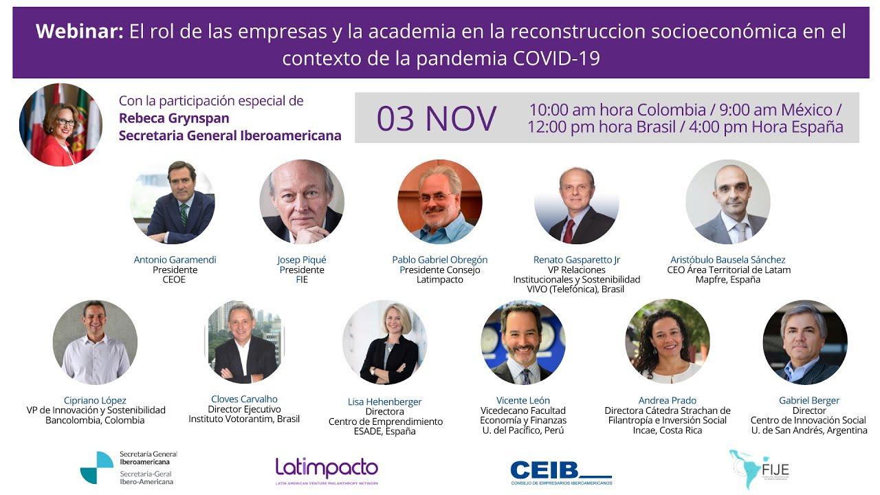 Profesora Andrea Prado participó en panel organizado por Latimpacto y SEGIB