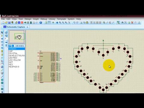 Tự học 8051: Bai5 – Hướng dẫn lập trình LED trái tim – Rất dễ làm