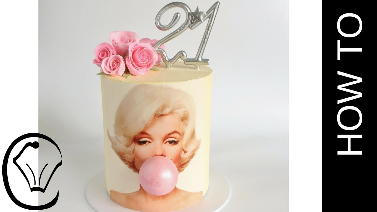 Marilyn Monroe Bubble Gum Birthday Cake By Cupcake Savvys Kitchen
