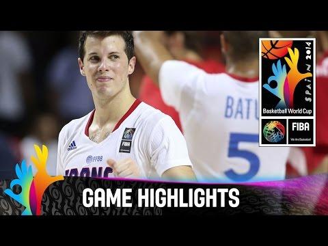 France v Croatia - Game Highlights - Round of 16 - 2014 FIBA Basketball World Cup