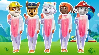 Five Little Paw Patrol Jumping On The Bed. Children Nursery Rhyme and Songs #2
