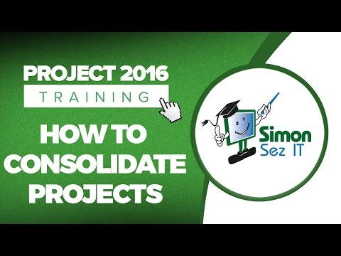 How to Consolidate Projects in Microsoft Project 2016