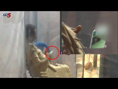 Circle Inspector Watching Blue Films At KanakaDurga Temple | Vijayawada : TV5 News