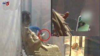 CI Caught Watching Blue Film At Kanaka Durga Temple | Vijayawada : TV5 News