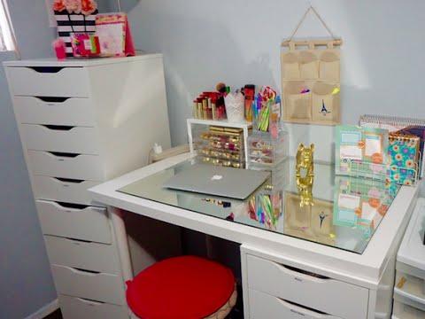Tour en mi escritorio y de mis hijas ideas de for Como decorar mi escritorio de trabajo