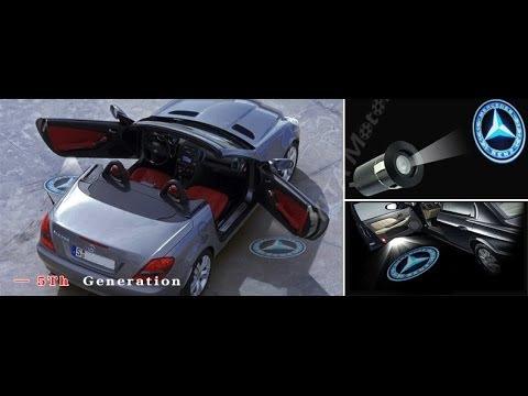 Mercedes Cla 250 >> 2014 Mercedes Benz CLA 45 AMG CLA 250 Car door laser projector Logo light Hologram - YouTube