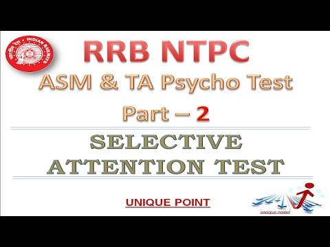 RRB NTPC ASM PSYCHO TEST | Part- II Selective Attention Test (Add of Odd Number)