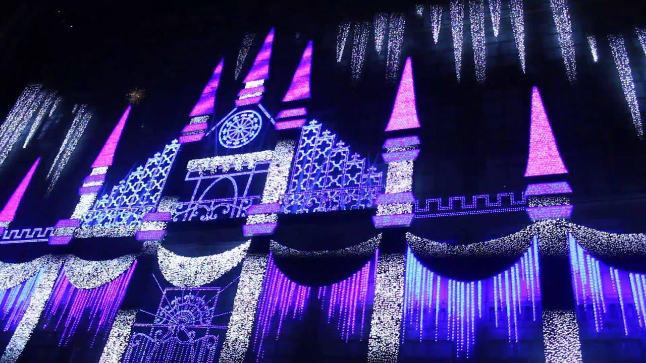 NYC Rockefeller Center Light Show on Saks 5th Avenue - YouTube
