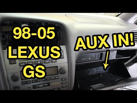 98-05 Lexus GS Auxiliary Input Installation (GROM) - YouTube