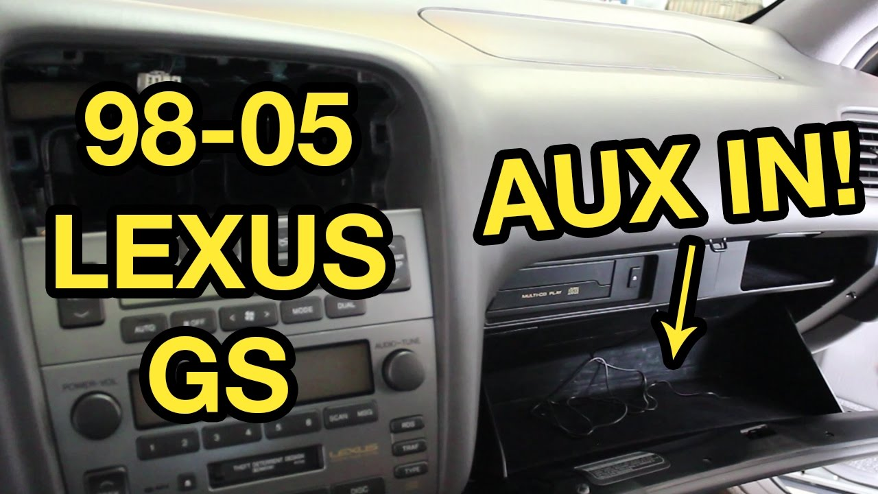 98 05 lexus gs auxiliary input installation grom  [ 1280 x 720 Pixel ]