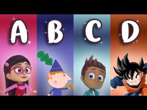 Learn Italian ALPHABET with cartoons ABC