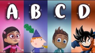 Learn Italian ALPHABET with cartoons ABC