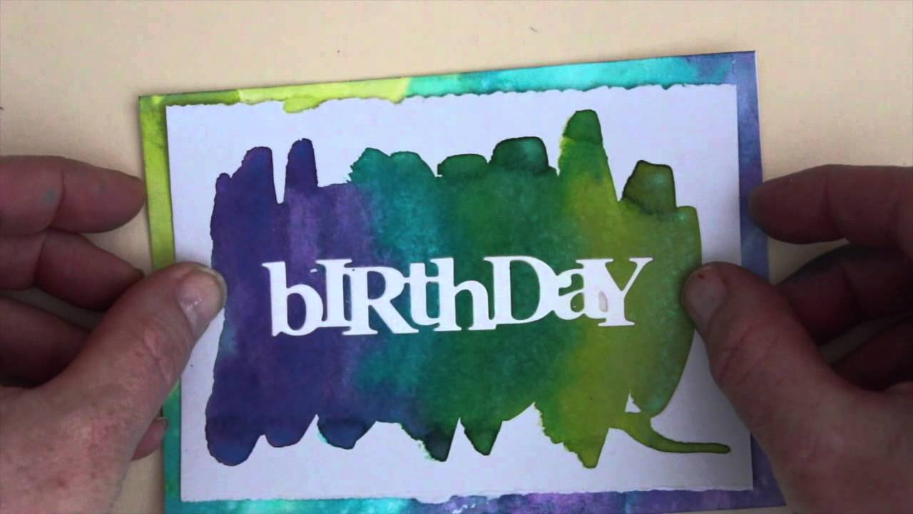 Watercolor Birthday Cards Tutorial ~ Watercolor birthday card start to finish youtube