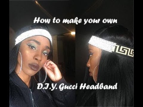 d10bfacca1a D.I.Y. Gucci Inspired Headband - YouTube