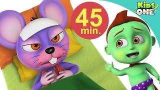 Hindi Rhymes  Aaj Mangalwar hai  आज मंगलवार है चूहें को बुखार है - KidsOne