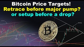 Bitcoin Price Targets! Is this a retrace before major pump or a setup before major BTC drop?