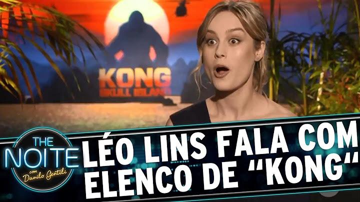 lo lins conversa com o elenco de kong a ilha da caveira  the noite 150317