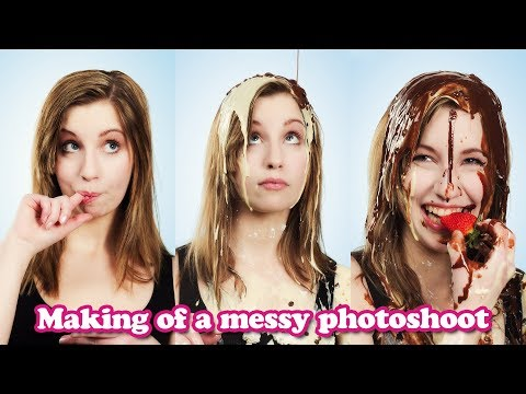 The making of a messy photoset - Freebie for 6000 subscribers!!!