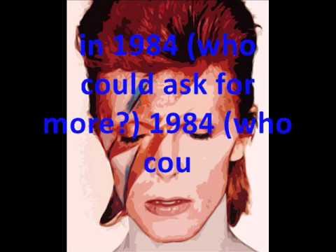 1984 - David Bowie (lyrics on screen)