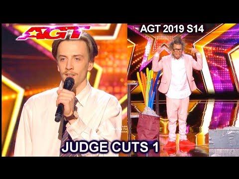 Andy Rowell Karaoke Singer & Jecko | America's Got Talent 2019 Judge Cuts