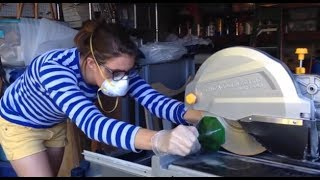 How to Cut Square Bottles With a Wet Saw