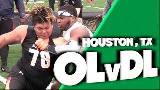 🔥🔥 DL v OL | 1v1s | Under Armour Camp | Houston Texas  | Under The Radar Top Plays 2019