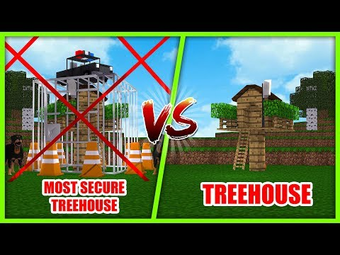 MOST SECURE BASE CHALLENGE - TREEHOUSE VS TREEHOUSE w/ Tiny Turtle