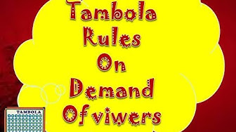 2017 learn rules of play tambola games for (beginners) win tambola in parties(incredible results)