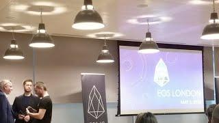 Live at the EOS London Dawn of EOS Blockchain