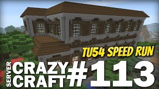 MINECRAFT Xbox - TU54 Speed Run [ Mansion ] CRAZY CRAFT #113 - Lets Play - PS4 / Switch / PE