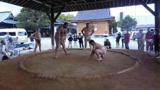 いつもお世話になっている、神崎相撲クラブに毎年 大嶽部屋の方々が来て...