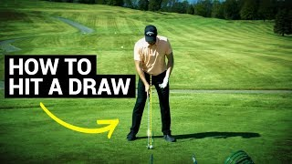 How To Hit A Draw In Golf (Easy Drill)