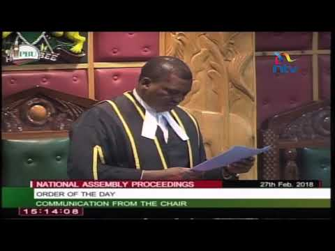 Speaker Justin Muturi kicks out petition to remove Chief Justice